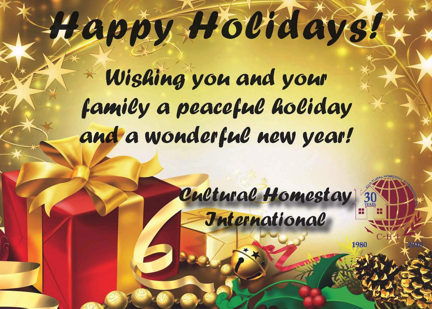 Images Of Happy Holidays Card Sayings Spacehero