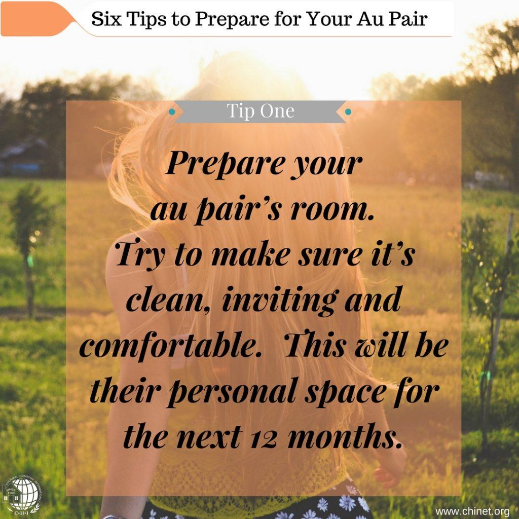 Prepare for your Au Pair