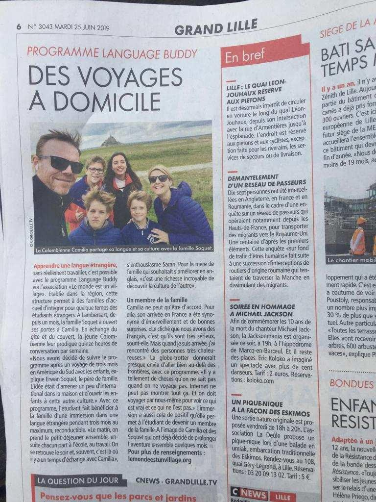 CHI World Explorer Makes Local French News 1