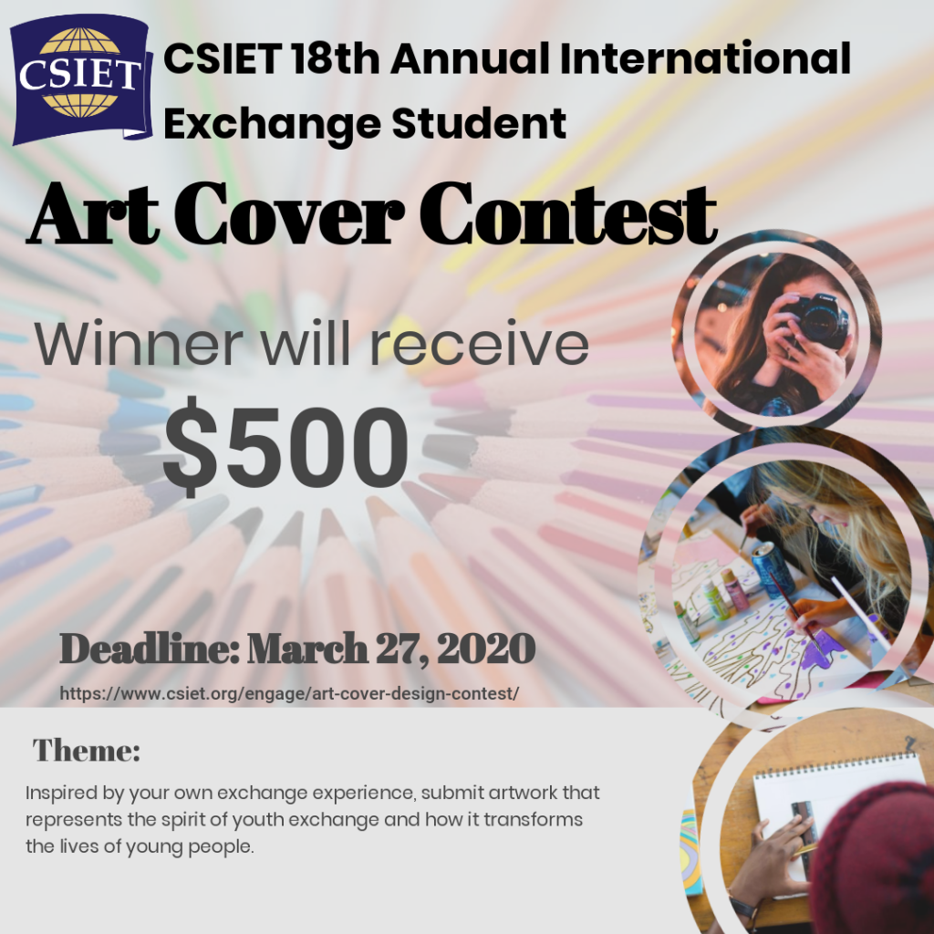 International Exchange Student Art Cover Contest! 1