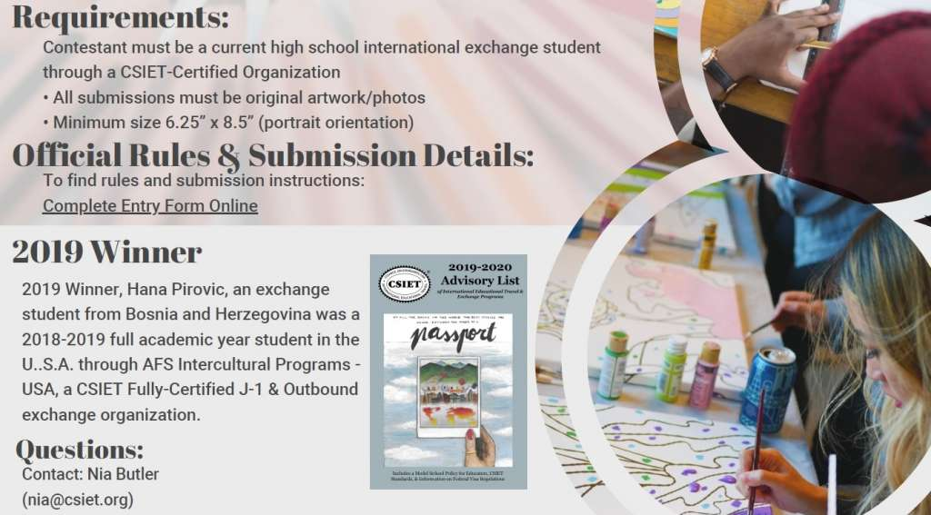 International Exchange Student Art Cover Contest! 2