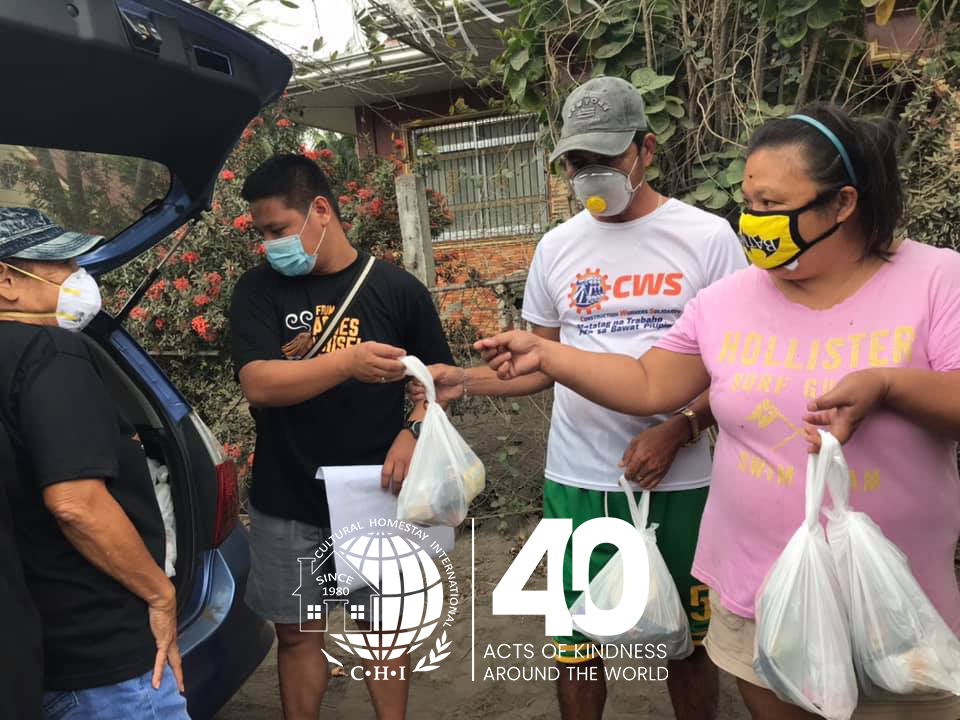 Volcano Ash Clean-up and Donations in the Philippines 1